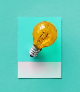 light bulb illustrating an idea